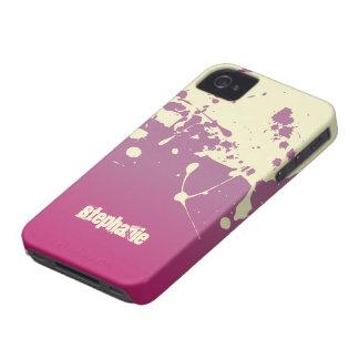 Pink cream paint splatter stylish blackberry bold iPhone 4 case