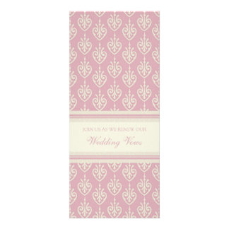 Pink Cream Wedding Vow Renewal Invitations