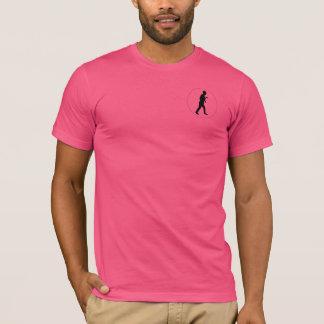 Pink Crew Neck T-Shirt w/ Black Logo