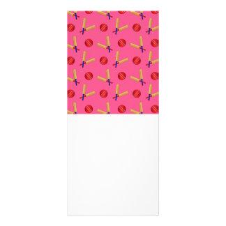 pink cricket pattern rack card design