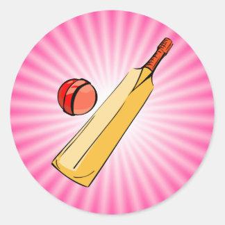 Pink Cricket Stickers