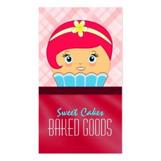 Pink Crimson Cupcake Baker Bakery Business Card