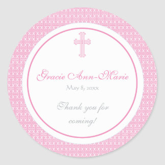 Pink Cross Address Label/Favor Sticker
