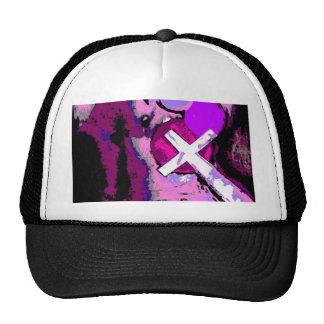 Pink Cross Mesh Hat