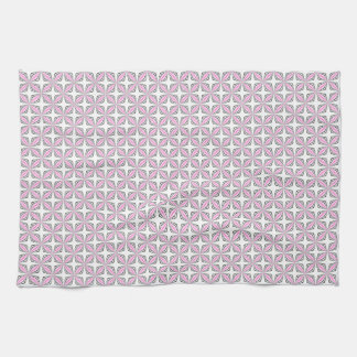 Pink cross pattern tea towel