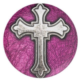 Pink Cross Plate