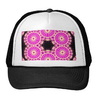 pink cross stich trucker hat