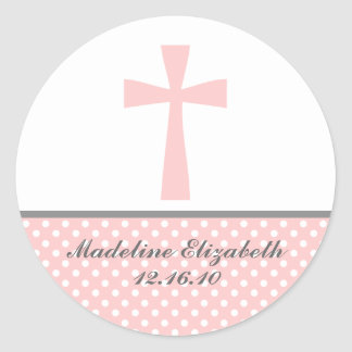 Pink Cross Stickers