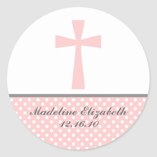 Pink Cross Stickers