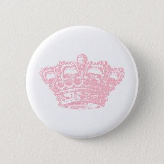 Pink Crown 6 Cm Round Badge