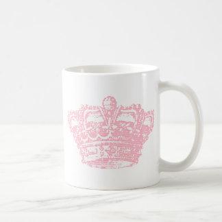 Pink Crown Basic White Mug