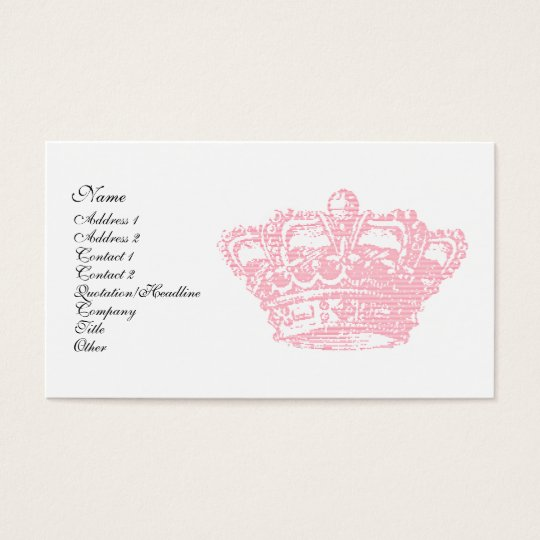 Pink Crown Business Card