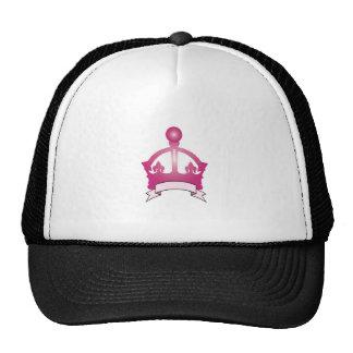 Pink Crown Caption Trucker Hat