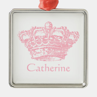 Pink Crown Christmas Ornament
