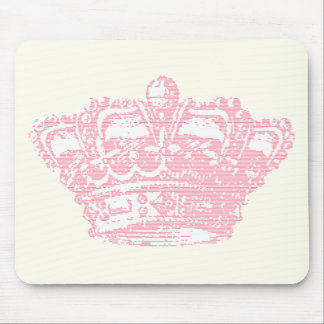 Pink Crown Mouse Pad