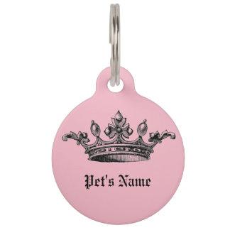 Pink Crown Pet Name ID Tag