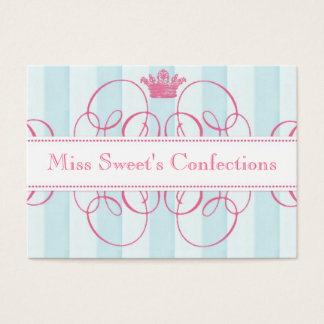 Pink Crown Sweet Shop Large Business Card