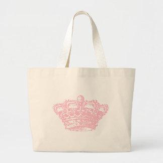 Pink Crown Jumbo Tote Bag