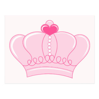 Pink Crown with Heart Post Card