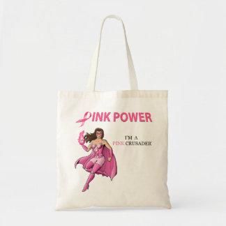 Pink Crusader Breast Cancer Awareness Tote Bag 1