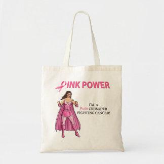 Pink Crusader Breast Cancer Awareness Tote Bag 3