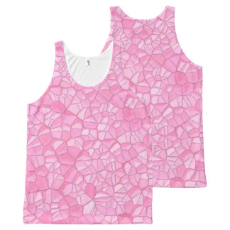 Pink crystal All-Over Printed Unisex Tank