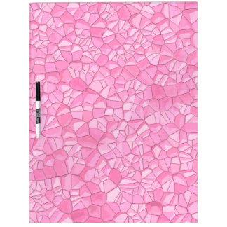Pink crystal dry erase board