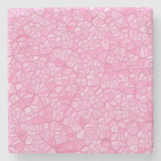 Pink crystal Marble Stone Coaster