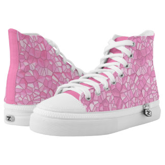 Pink crystal Zipz High Top Shoes