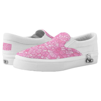 Pink crystal Zipz Slip On Shoes