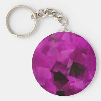 Pink Cubes Basic Round Button Key Ring