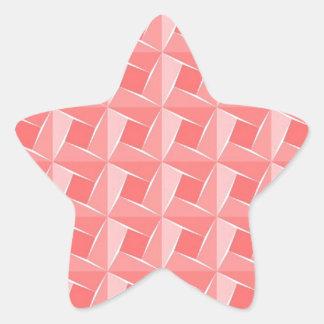 Pink Cubes. Geometrical Artistic Pattern Star Sticker