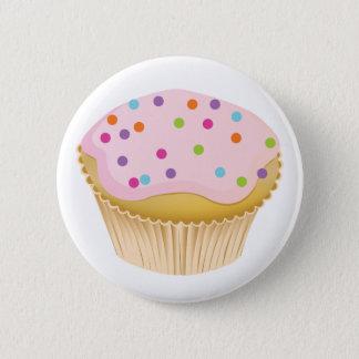 Pink Cupcake 6 Cm Round Badge