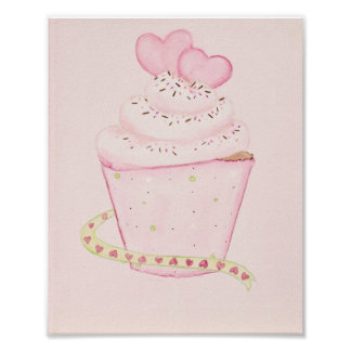 Pink Cupcake 8 x 10 print
