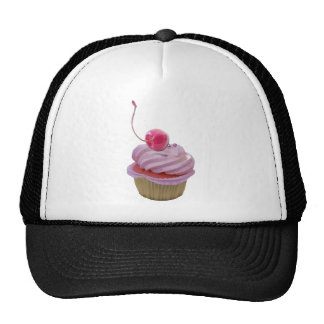 Pink Cupcake and Cherry Cap