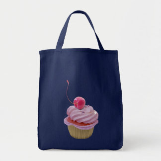 Pink Cupcake and Cherry Tote Bag