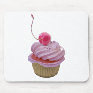 Pink Cupcake and Hearts Mouse Pads
