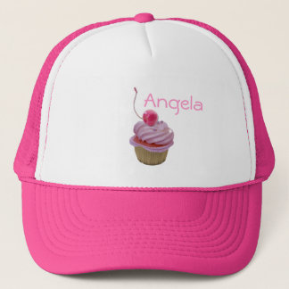 Pink Cupcake and Hearts Trucker Hat