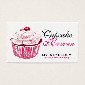 Pink Cupcake Baking Business Cards