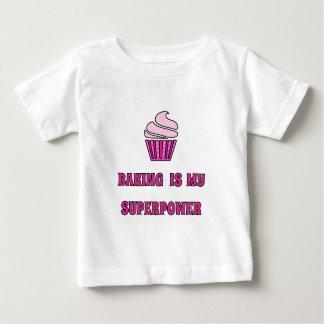 Pink cupcake baking superpower baby T-Shirt