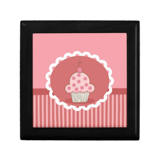 Pink Cupcake Design Gift Box