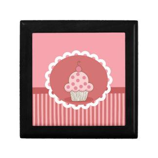 Pink Cupcake Design Small Square Gift Box