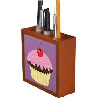 Pink Cupcake Desk Organizer