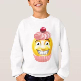 Pink Cupcake Emoji Emoticon Sweatshirt