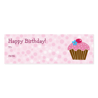 Pink Cupcake Gift Card Business Cards