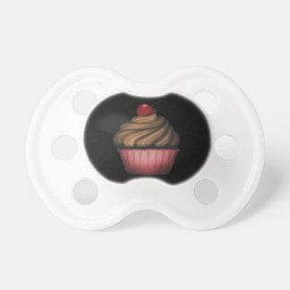 Pink Cupcake Girl Baby Pacifier