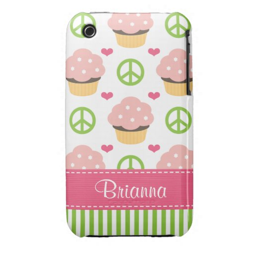 Pink Cupcake iPhone 3 Case-Mate Barely There