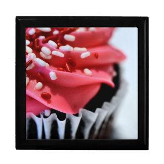 Pink Cupcake Keepsake Boxes