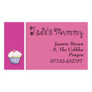 Pink cupcake kids/parent calling/profile card business card template