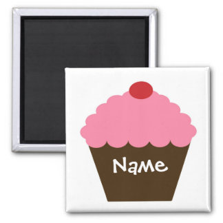 Pink Cupcake Love Fridge Magnets